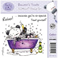 BAMBOO'S TREATS Cling Mounted Rubber Stamp Set Party Paws Collection from Crafter's Companion
