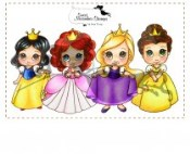 PRINCESSES Rubber Stamp Set Sweet November Mythical Creature Collection from C.C. Designs