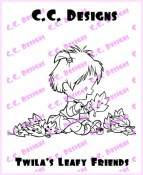 TWILA'S LEAFY FRIENDS Rubber Stamp Roberto's Rascals Collection from C.C. Designs