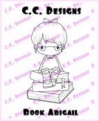 BOOK ABIGAIL Rubber Stamp Swiss Pixies Collection from C.C. Designs