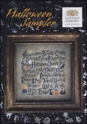 HALLOWEEN SAMPLER Cross Stitch Pattern by Cottage Garden Samplings