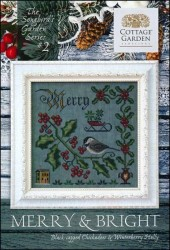 The Songbird's Garden Series - #2 MERRY & BRIGHT Cross Stitch Pattern by Cottage Garden Samplings
