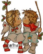 **PREORDER** CHRISTMAS KISS Rubber Stamp Little Winged Friends Collection from Bildmalarna