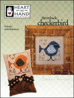 Throwback CHECKERBIRD Counted Cross Stitch Pattern from Heart In Hand