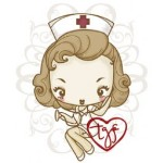 CHEEKY NURSE Rubber Stamp Cheeky Cherry Collection from The Greeting Farm
