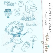 CHLOE DARKWING Clear Stamp Set from Tiddly Inks