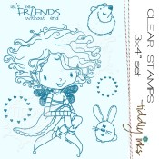 CHLOE AND HER FRIENDS Clear Stamp Set from Tiddly Inks