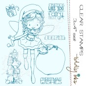 WILLOW CHRISTMAS FAIRY Clear Stamp Set from Tiddly Inks