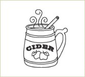 CIDER MUG Lizzie Anne Designs from Gourmet Rubber Stamps