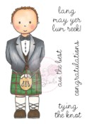 **PREORDER** MAN IN KILT Clear Stamp from Wild Rose Studio