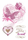 **REORDER** VINTAGE HEART Clear Stamp Set from Wild Rose Studios
