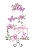 **Retired** WEDDING CAKE Clear Stamp from Wild Rose Studio