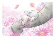 BELLA SLEEPING Clear Stamp Bella Collection from Wild Rose Studio