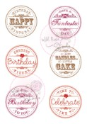 BIRTHDAY CIRCLES Clear Stamp Set from Wild Rose Studio