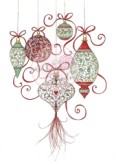 BAUBLES Clear Stamp Annabelle's Christmas Collection from Wild Rose Studio