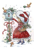 FEEDING ROBINS Clear Stamp Annabelle's Christmas Collection from Wild Rose Studio