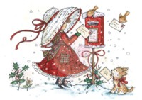 POSTING LETTERS Clear Stamp Annabelle's Christmas Collection from Wild Rose Studio