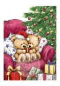 TEDDY GIVING Clear Stamp Traditional Christmas Collection from Wild Rose Stamps