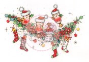 CHRISTMAS ROBINS Clear Stamp Set Annabelle and Antoine Collection from Wild Rose Studio