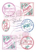 CHRISTMAS LABELS Clear Stamp Set Winter Bluebell Collection from Wild Rose Studio