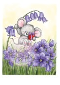 MOUSE ON BLUEBELL Clear Stamp Bluebell Collection from Wild Rose Studio