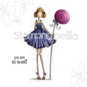 **REORDER** CLAUDIA HAS A CANDY Rubber Stamp Uptown Girls Collection from Stamping Bella