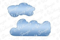 CLOUD DIE SET Whimsy Stamps Shapeology Dies