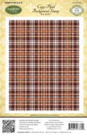 COZY PLAID BACKGROUND Rubber Stamp Amy Tedder Designs from JustRite Papercrafts