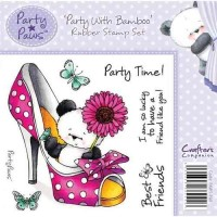 PARTY WITH BAMBOO Cling Mounted Rubber Stamp Set Party Paws Collection from Crafter's Companion