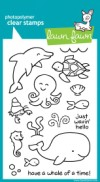 CRITTERS IN THE SEA Clear Stamp Set from Lawn Fawn
