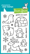 CRITTERS IN THE SNOW Clear Stamp Set from Lawn Fawn