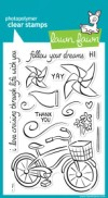 CRUISING THROUGH LIFE Clear Stamp Set from Lawn Fawn