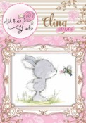 BUNNY AND BEE Cling Rubber Stamp Blackberry Lane Collection from Wild Rose Studio