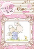 BUNNY AND MOUSE Cling Rubber Stamp Blackberry Lane Collection from Wild Rose Studio