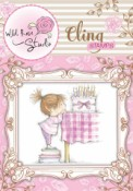 BIRTHDAY GIRL Cling Rubber Stamp Blackberry Lane Collection from Wild Rose Studio