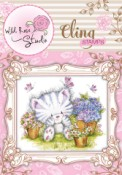 ELSIE AND MOUSE Cling Rubber Stamp Blackberry Lane Collection from Wild Rose Studio