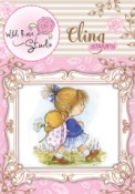 EMILY WALKING Cling Rubber Stamp Blackberry Lane Collection from Wild Rose Studio