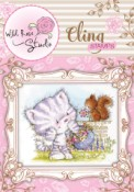 ELSIE AND SQUIRREL Cling Rubber Stamp Blackberry Lane Collection from Wild Rose Studio