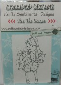 BELL AND PRESENT Rubber Stamp Set It's The Season Christmas Collection from Crafty Sentiments Designs