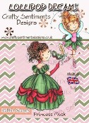 PRINCESS MASK Rubber Stamp Lollipop Dreams Collection from Crafty Sentiments Designs