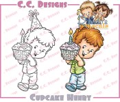 CUPCAKE HENRY Rubber Stamp Roberto's Rascals Collection from C.C. Designs