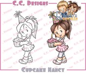 CUPCAKE NANCY Rubber Stamp Roberto's Rascals Collection from C.C. Designs
