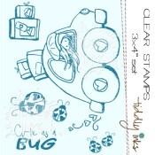 CUTE AS A BUG Clear Stamp Set from Tiddly Inks