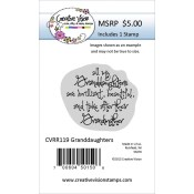 GRANDDAUGHTERS Rubber Stamp from Creative Vision