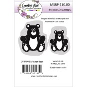 MOTHER BEAR Rubber Stamp Set from Creative Vision