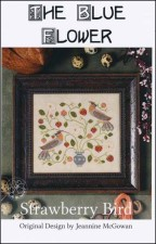STRAWBERRY BIRD Counted Cross Stitch Pattern from The Blue Flower