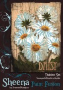 DAISIES Stamp Set Sheena Douglass Paint Fushion Collection from Crafter's Companion