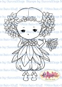 DAPHNE SPRITE Rubber Stamp Aurora Wings Mitzi Sato-Wiuff Collection from Sweet Pea Stamps