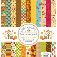 HAPPY HARVEST Paper Pad 6x6 Happy Harvest Collection from Doodlebug Designs