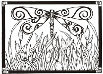 DRAGONFLY FRAME from Gourmet Rubber Stamps